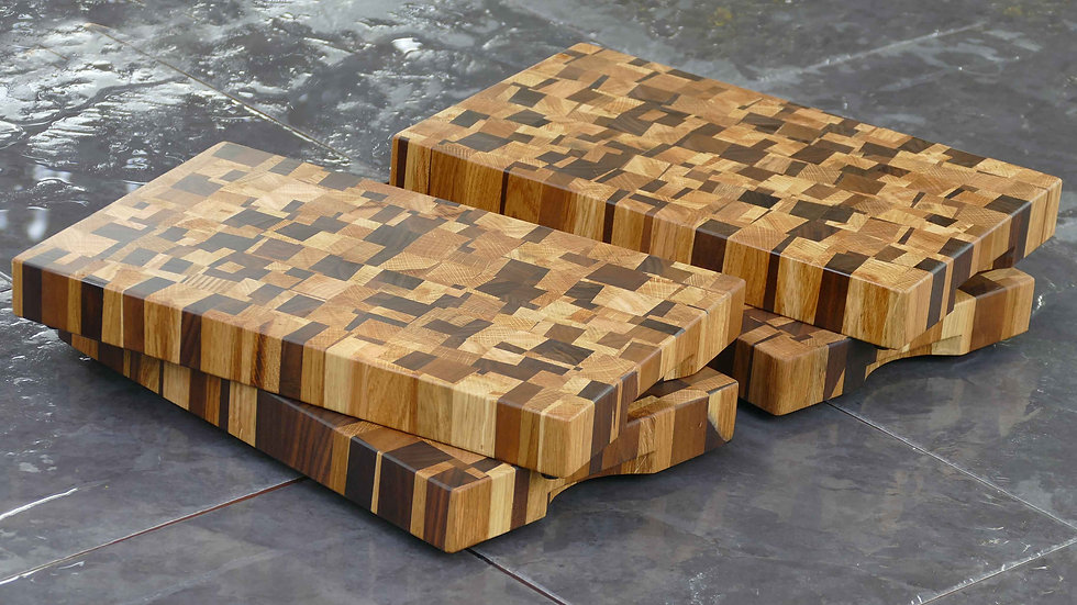 End Grain Modernist Chopping Board