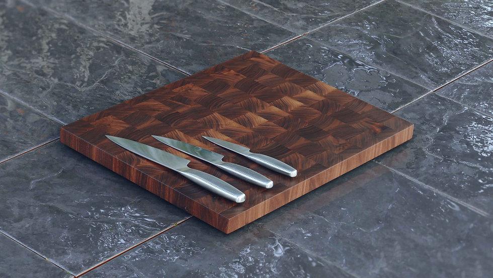 American Walnut End Grain English Oak Chopping Boards
