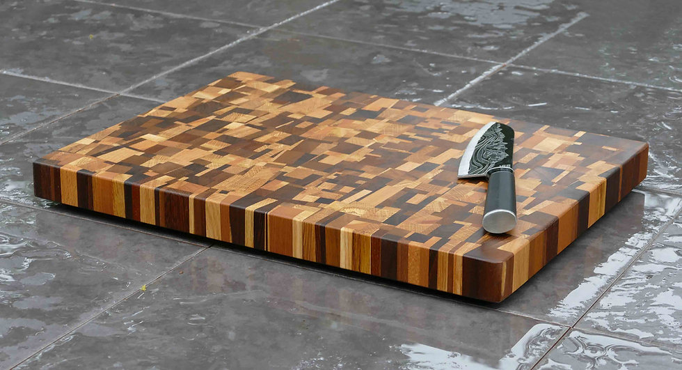 End Grain Modernist Beech Chopping Board