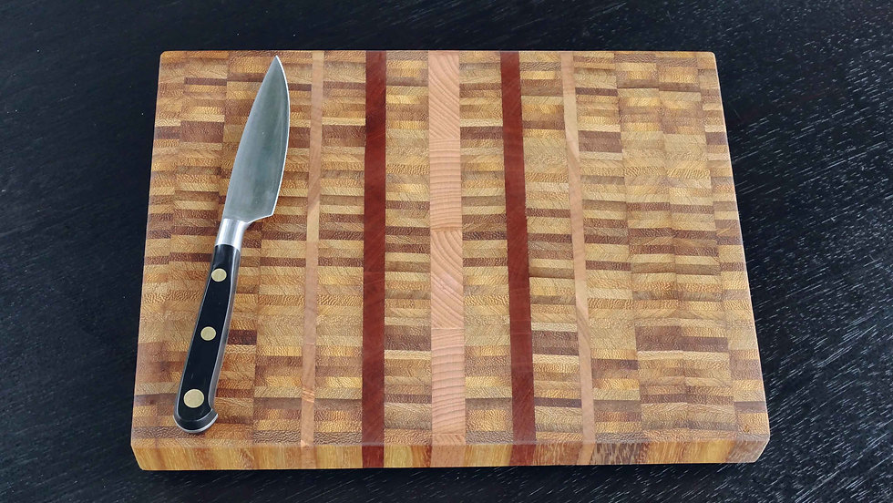 Stripy End Grain Chopping Board