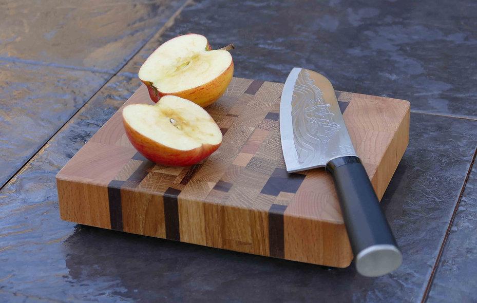 End Grain Modernist Beech Chopping Board