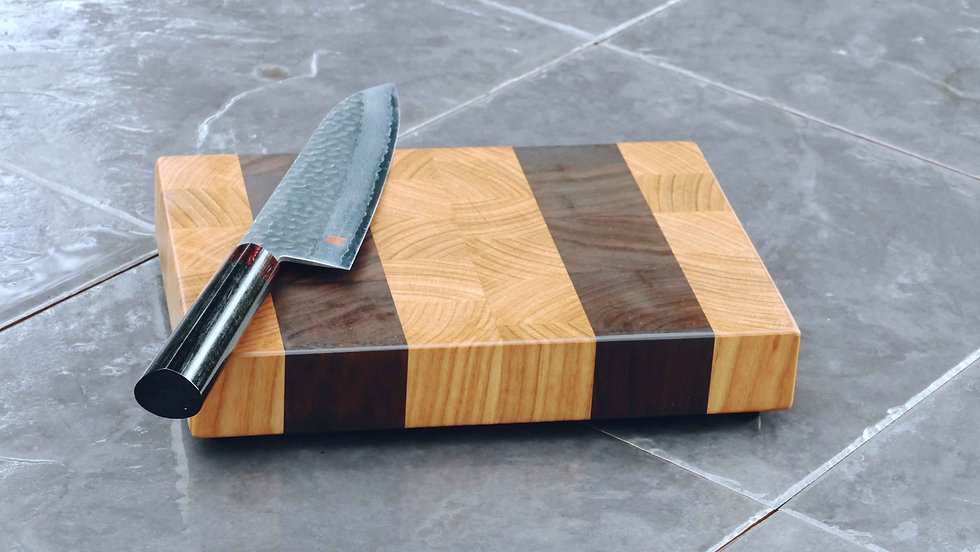 Stripy End Grain Chopping Board