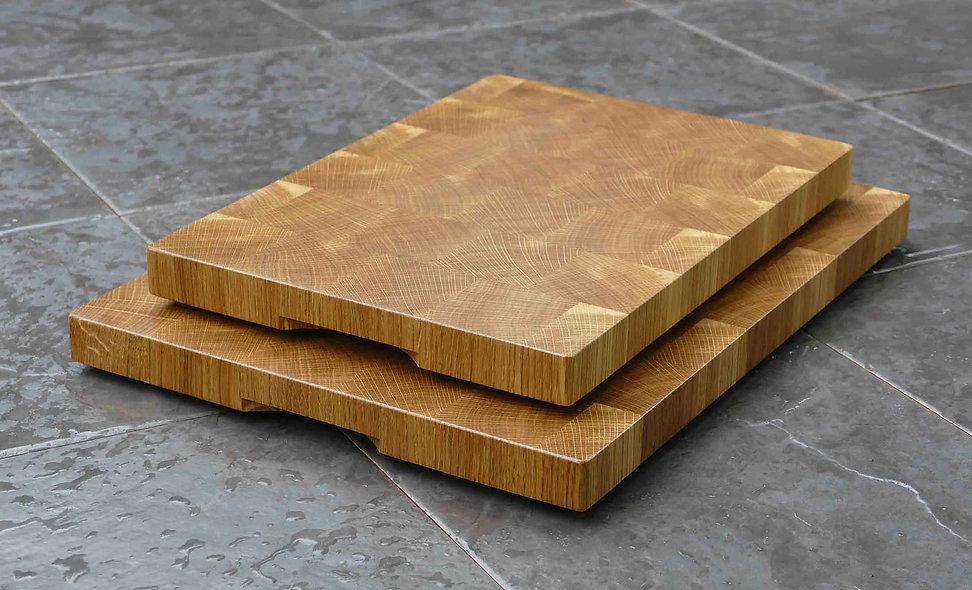 End Grain English Oak Chopping Boards