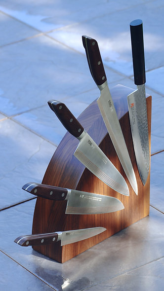 Walnut Magnetic Knife Block