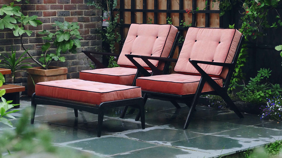 Z Chair and Footstool - Poul Jensen - Mid Century - Danish