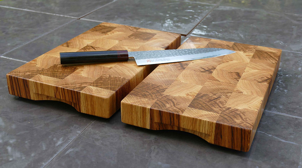 End Grain English Oak Chopping Board