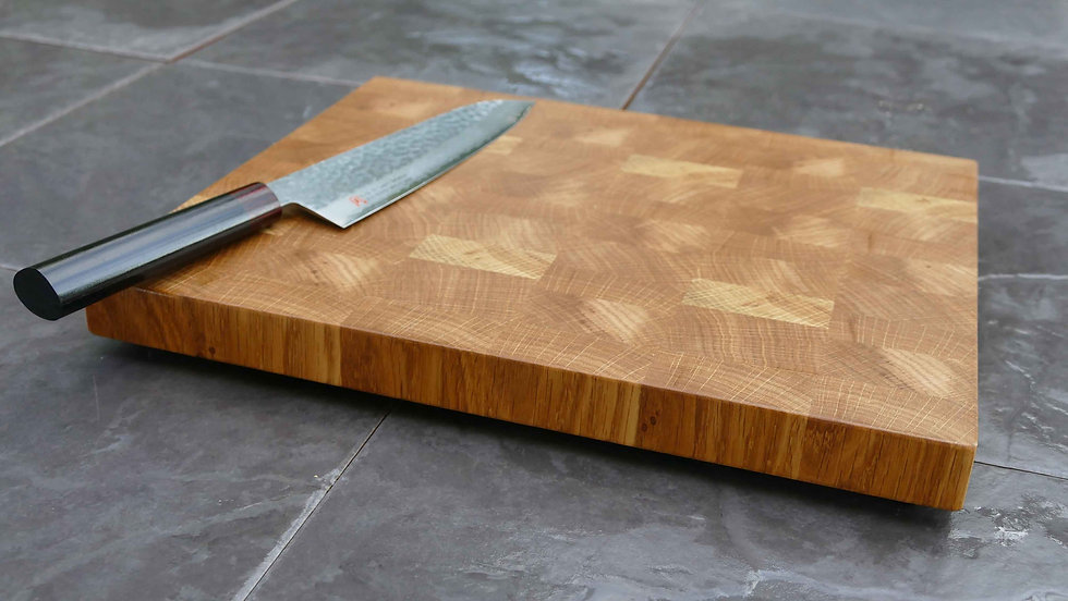End Grain English Oak Chopping Board