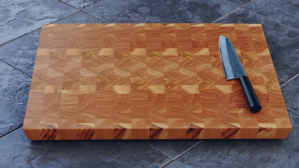 American Cherry End Grain English Oak Chopping Boards