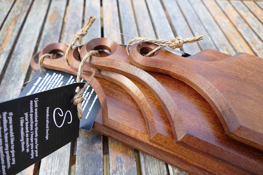 Sapele Cheese/Bread Boards