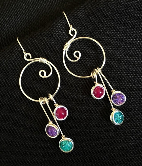 quality silver handcrafted gemstone earrings product sterling bali ge faceted jewellery cube amethyst