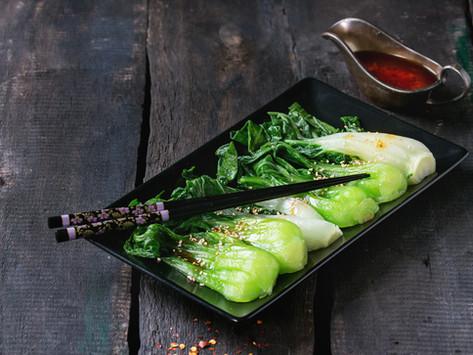 Pak Choi sesame, soy, garlic and ginger