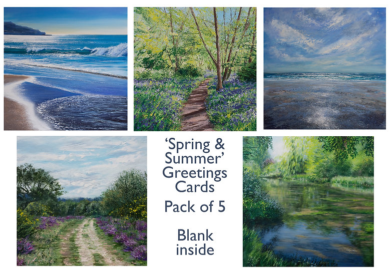 'Spring & Summer' 5-pack greetings cards