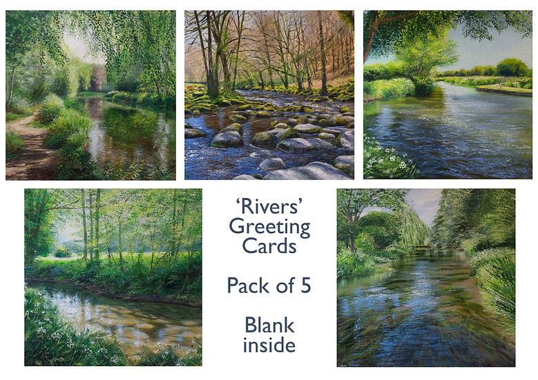 'Rivers' 5-pack greetings cards