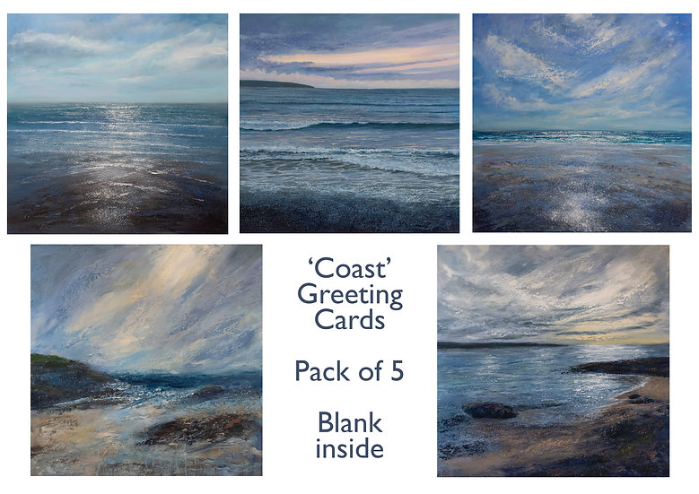 'Coast' 5-pack Greetings Cards