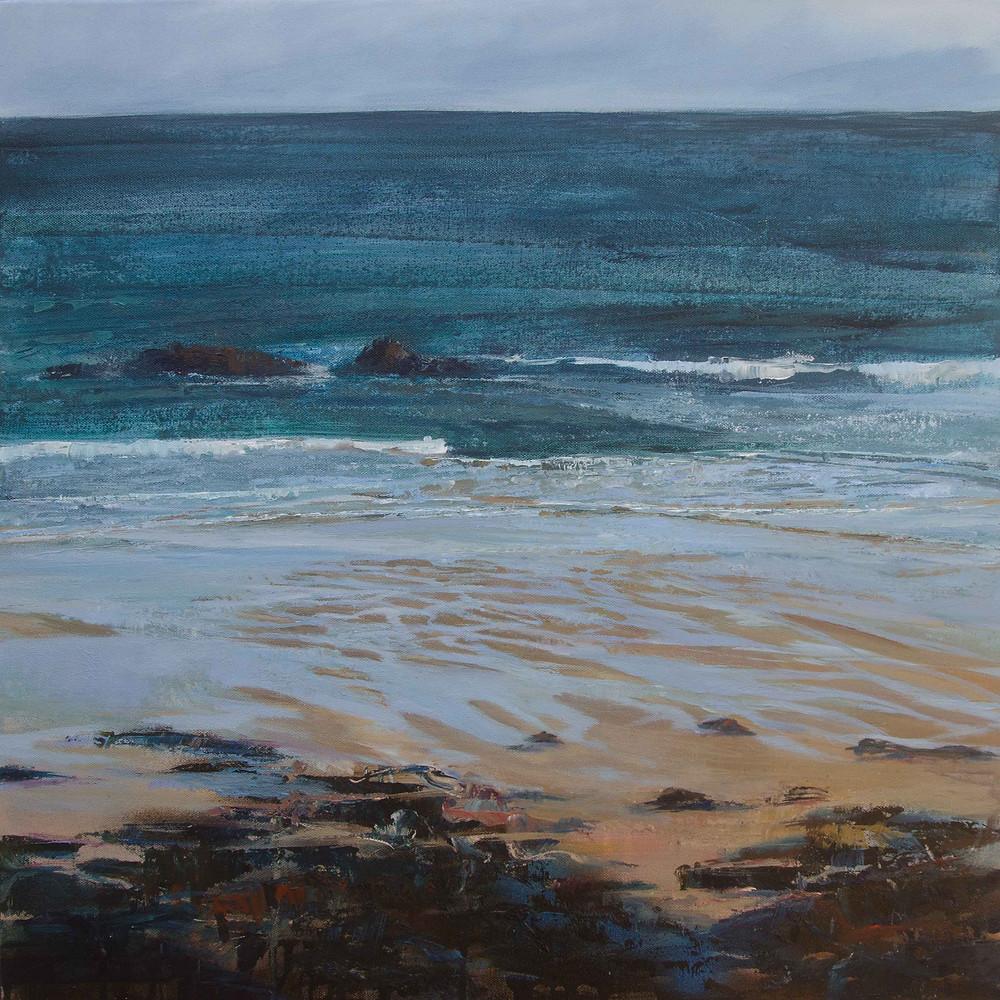 painting of porthmeor beach st ives