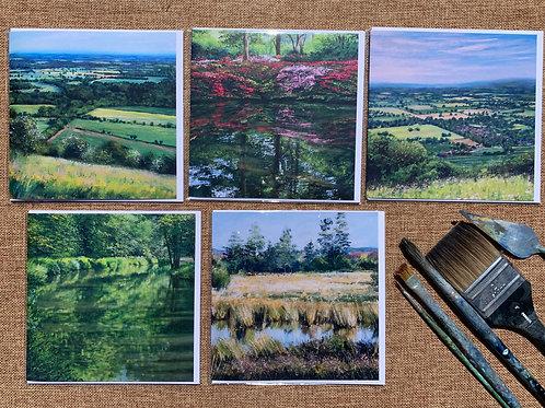 Greetings Cards 'Surrey', 5-pack