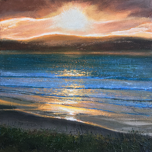 Winter Sunset, Gwithian Towan
