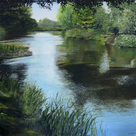Summer, Wisley Riverbank