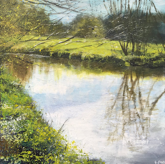 Spring Arrival, River Wey