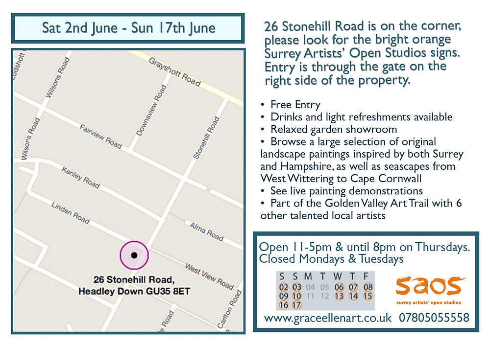 Surrey Artists Open Studios flyer