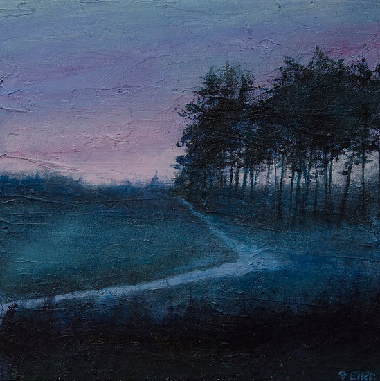 Low Mist and Pink Sky, Frensham