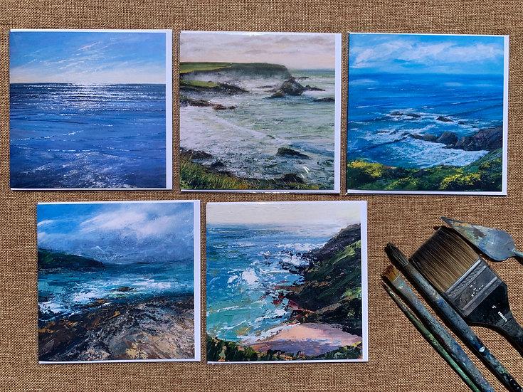 Greetings Cards 'Sea', 5-pack