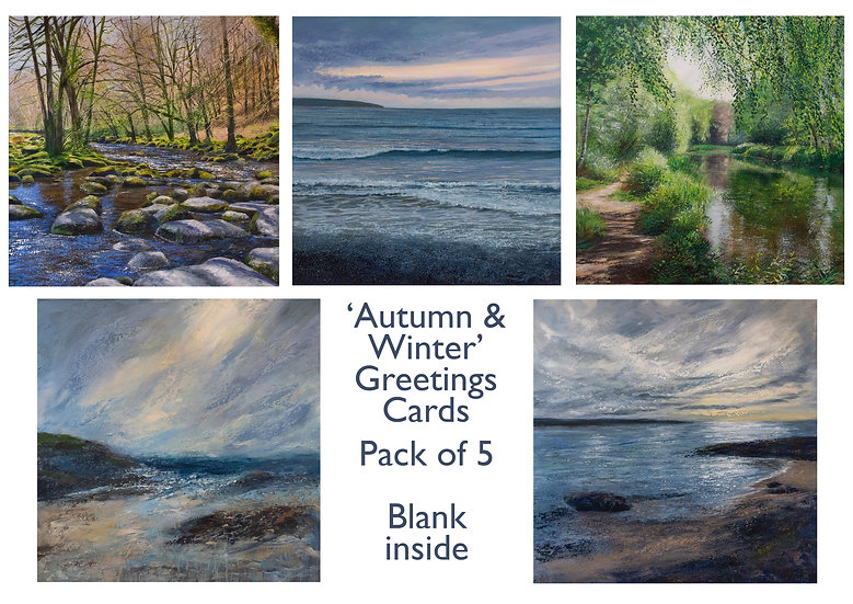'Autumn & Winter' 5-pack Greetings Cards