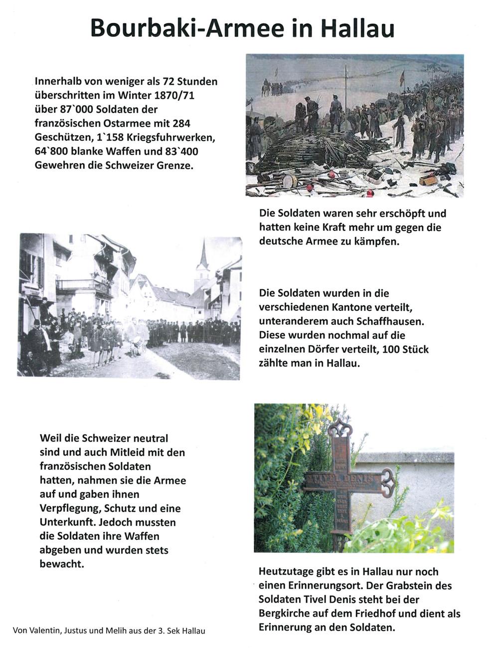 150 Jahre Bourbaki-Internierung - ein Projekt zur Erinnerungskultur