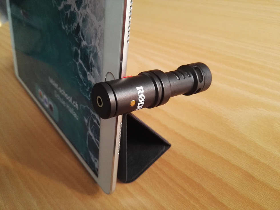 Videoaufnahmen mit dem iPad (mit Stativ)