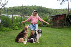 Gail with pups