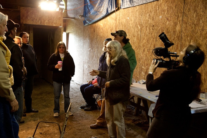 Filming prep for deer round-up