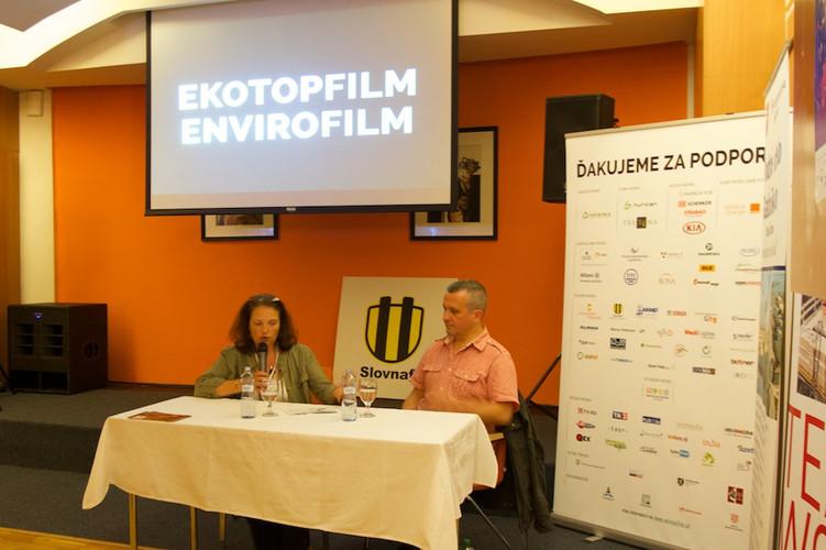 Post-screening discussion in Bratislava, Slovakia