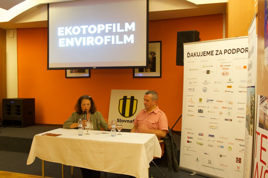 Post-screening discussion in Bratislava, Slovakia