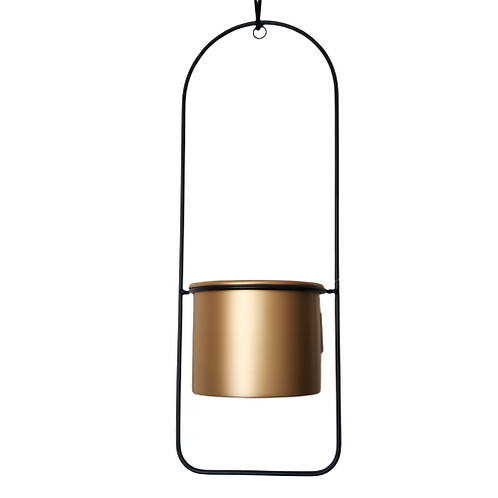 Hanging Planter gold and metal  woodka interiors
