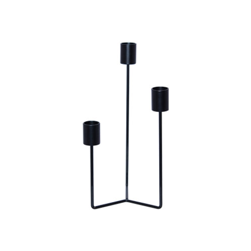 3 tier black candle stick 23cm