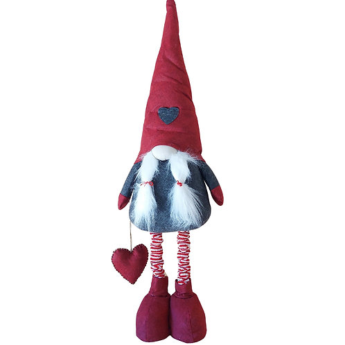Christmas Lady Gnome with Extendable Legs - Large