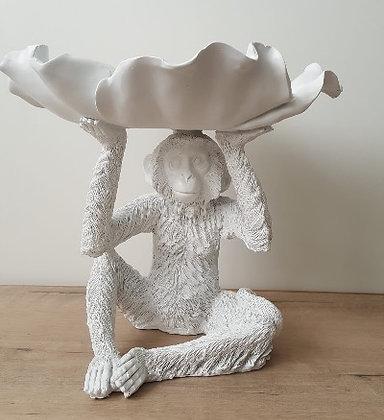 Monkey Petal Bowl -  White