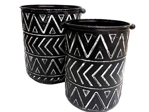 Mirembe (set of two) Metal Bucket Planters