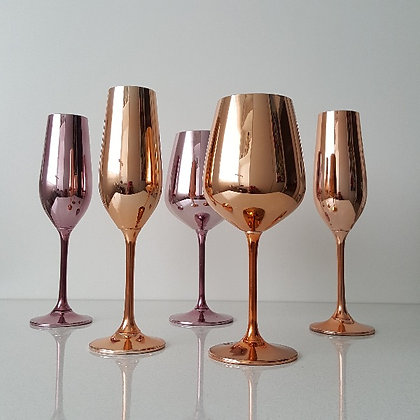 metallic wine glasses woodka interiors
