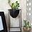 metal planter black woodka interiors