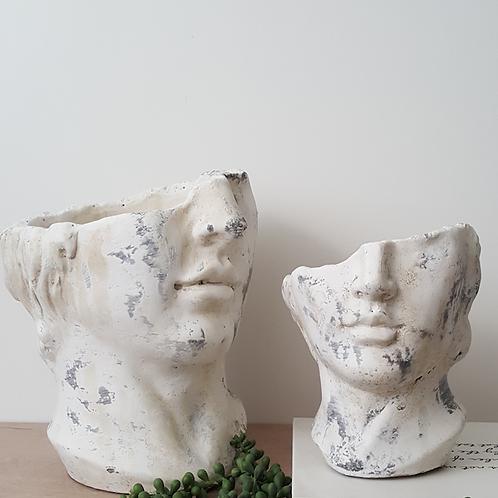 Face Flower Pot Planter Statue