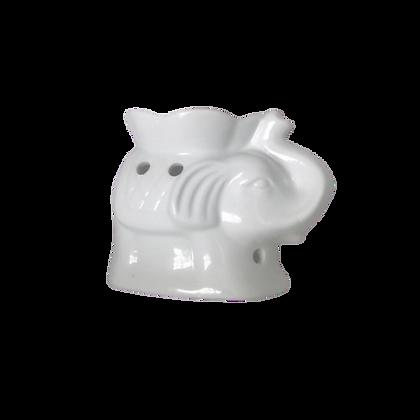 CeramicOil Burner - White - Elephant
