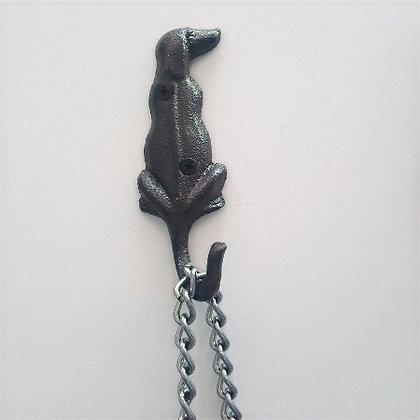 Black Wrought Iron Hook - Dog