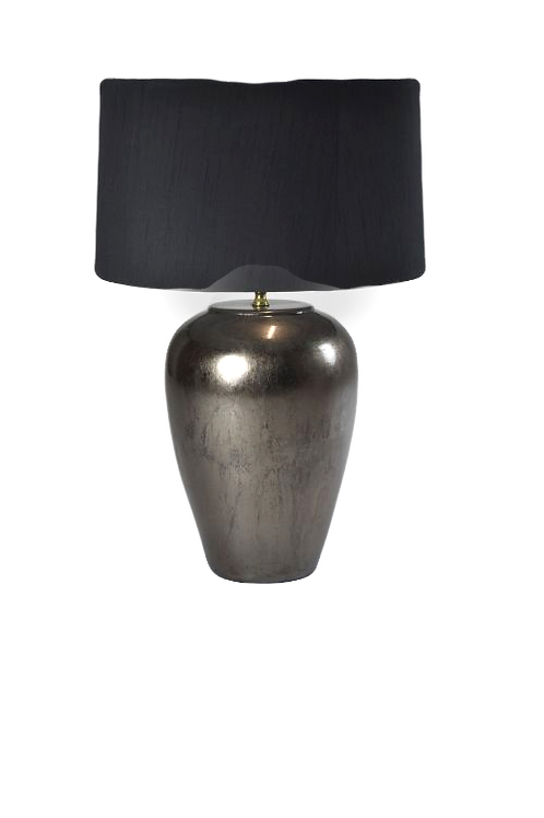 Ceramic table lamp- Warm Metal