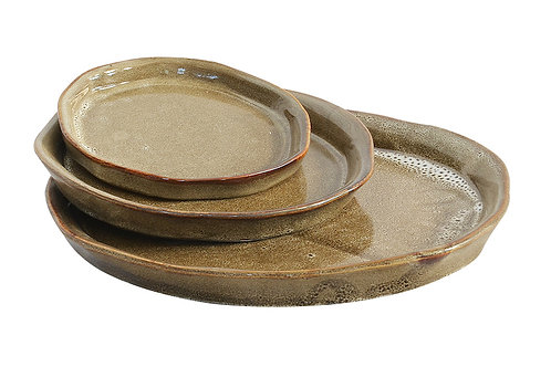 Ceramic Espresso tray set of 3