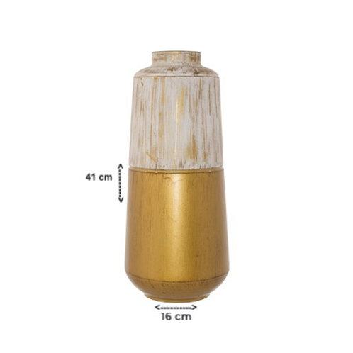 Large Gold/White Vase