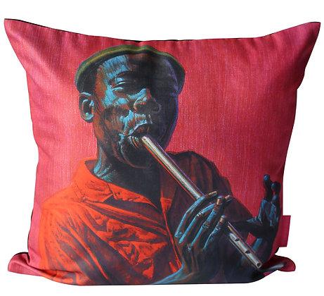 Tretchikoff linen 'Kwela Boy' Cushion Cover
