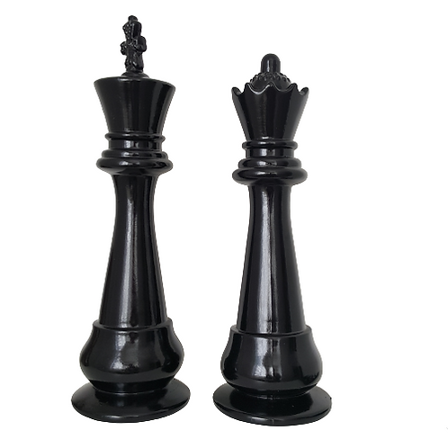chess pieces king and queen large