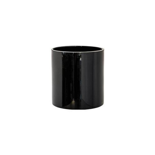 Round Cylinder Vase - Black