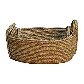 set of 3 weaved baskets bowls R279 43cm